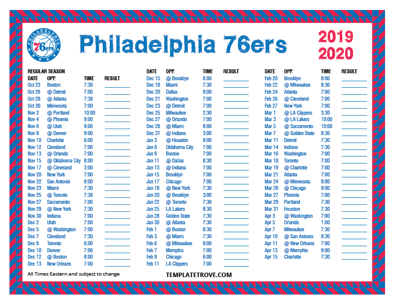 Gratifying image inside 76ers printable schedule