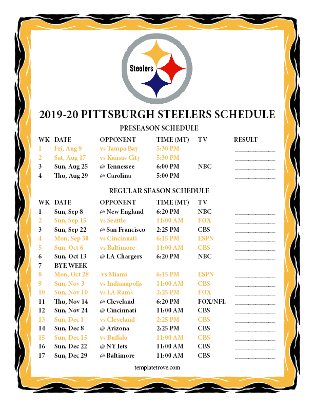 It is a picture of Vibrant Cleveland Browns Schedule 2020 Printable