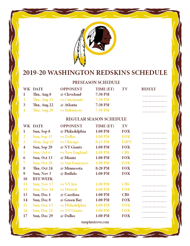 It is an image of Irresistible Eagles Schedule 2020 Printable