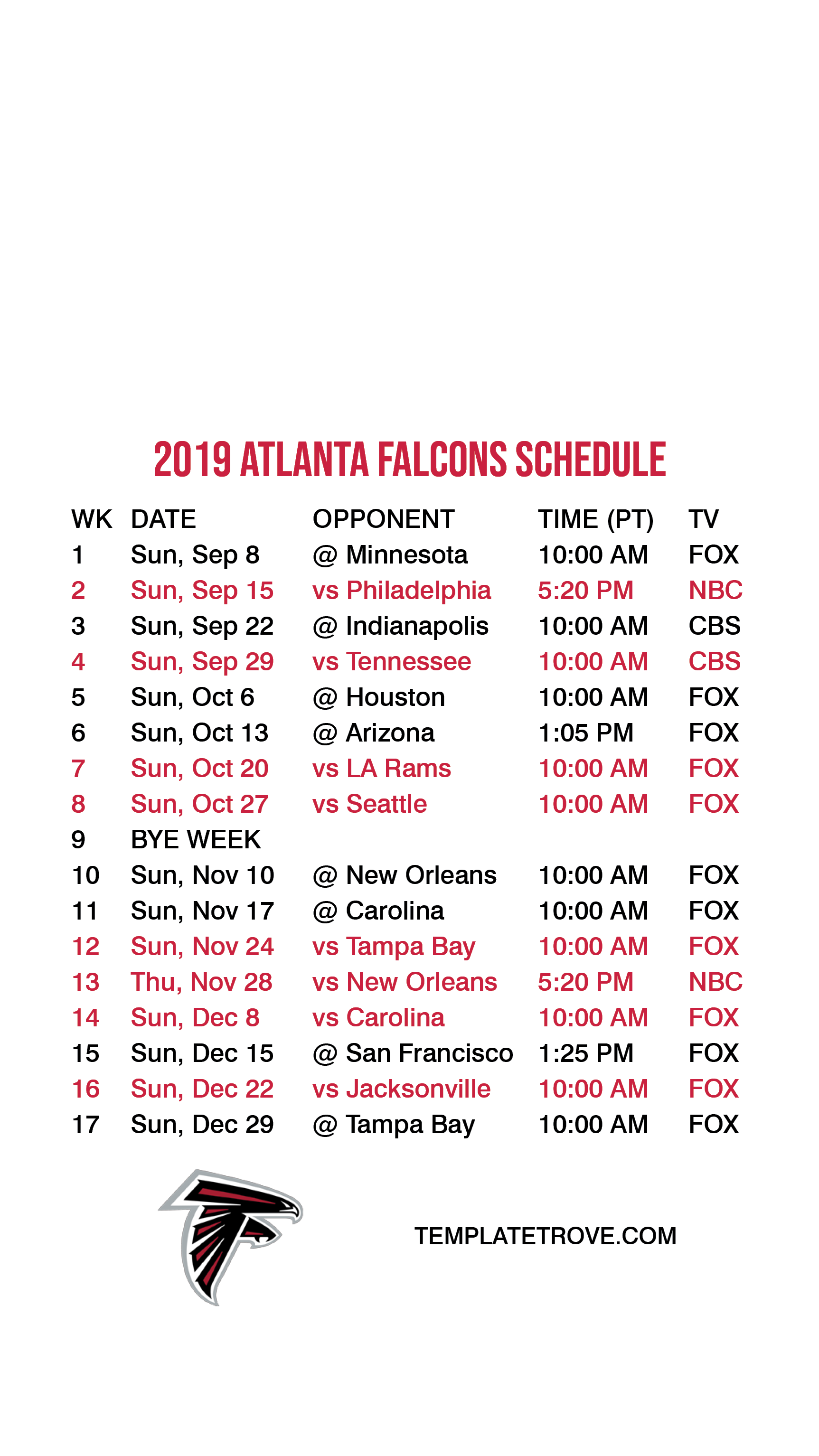 This is a picture of Amazing Saints Schedule 2020 Printable