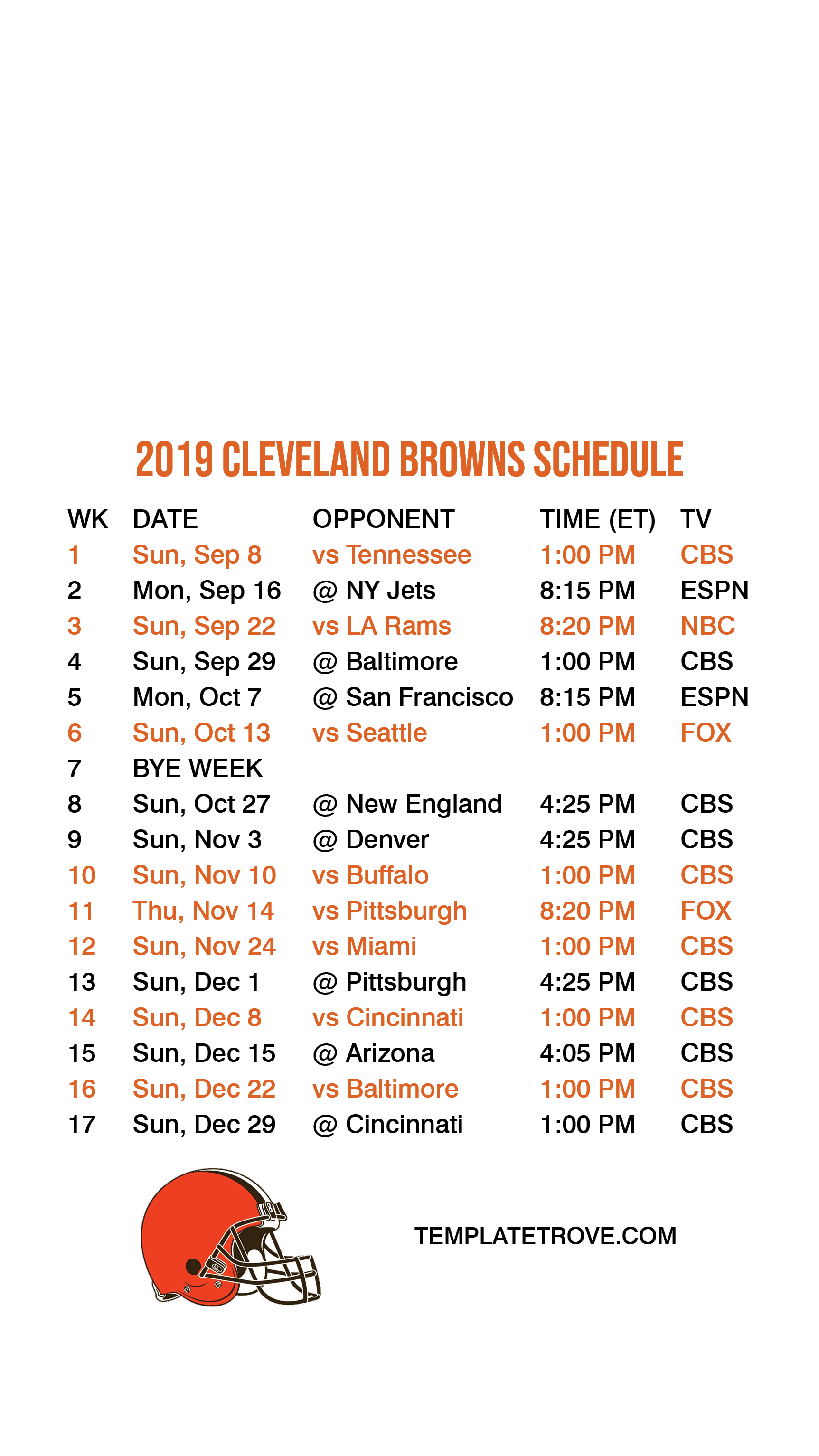 photograph relating to Cleveland Browns Printable Schedule named 2019-2020 Cleveland Browns Lock Exhibit Program for apple iphone 6