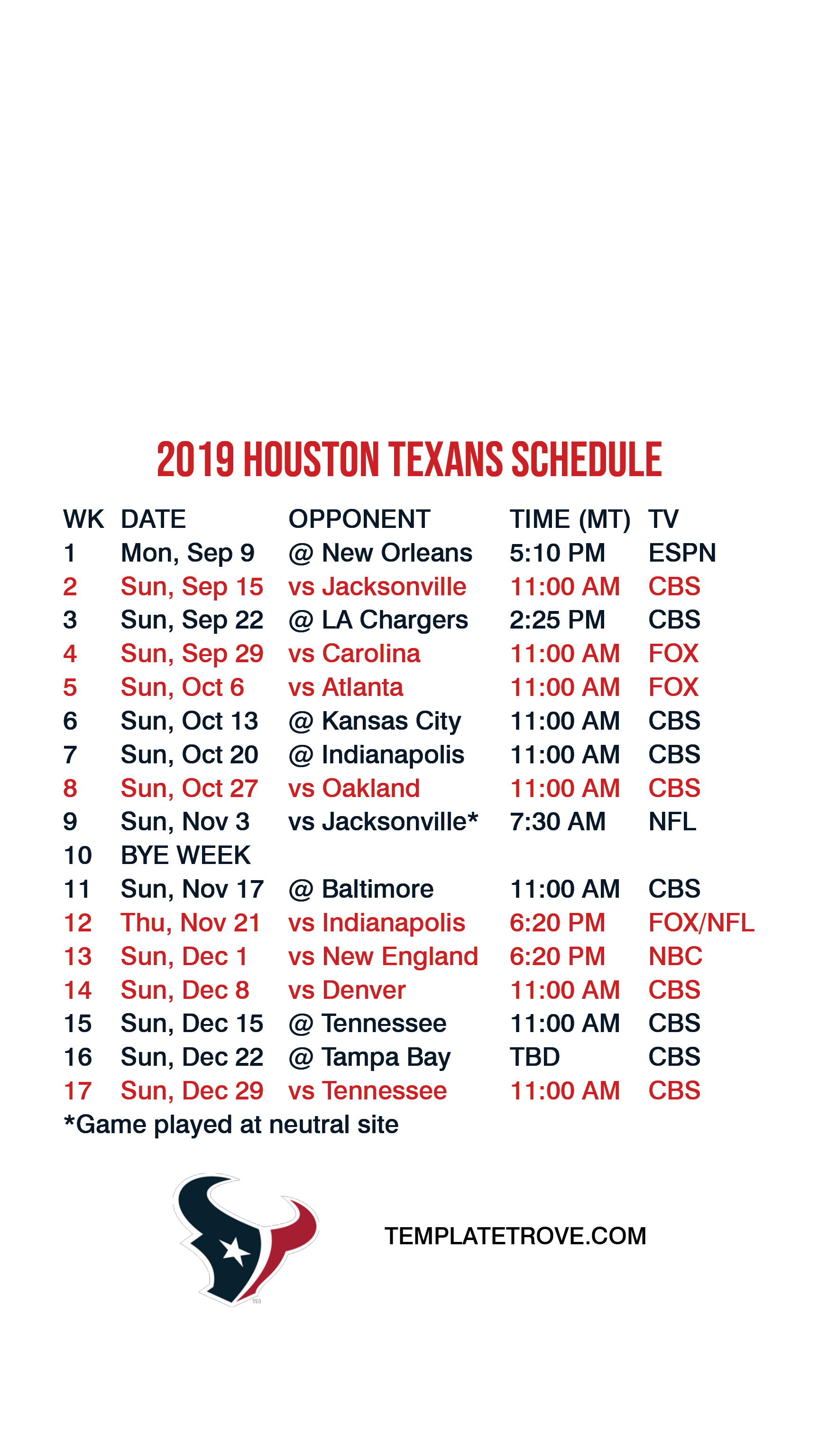 2019 2020 Houston Texans Lock Screen Schedule For Iphone 6 7 8 Plus