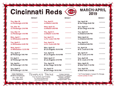 Schedules Printable Team Schedules