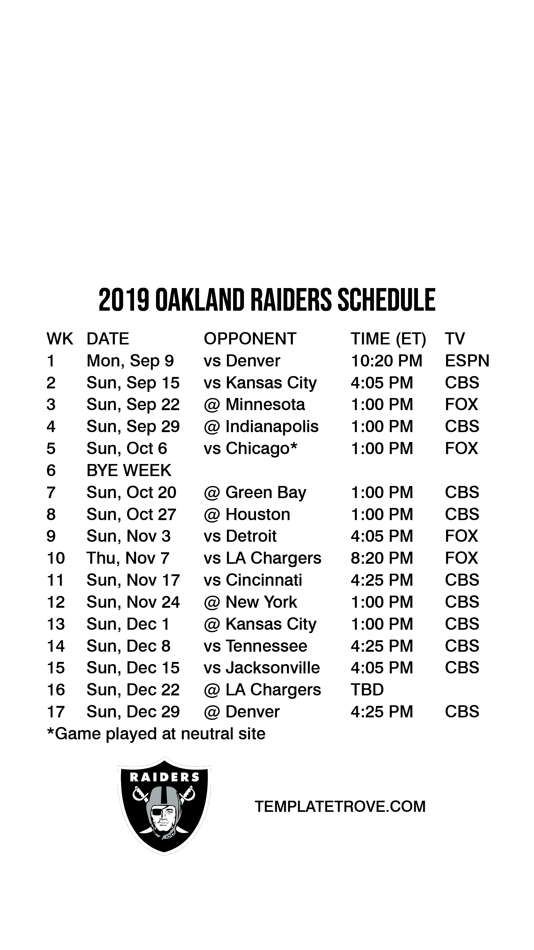 Raiders Schedule 2020.2019 2020 Oakland Raiders Lock Screen Schedule For Iphone 6