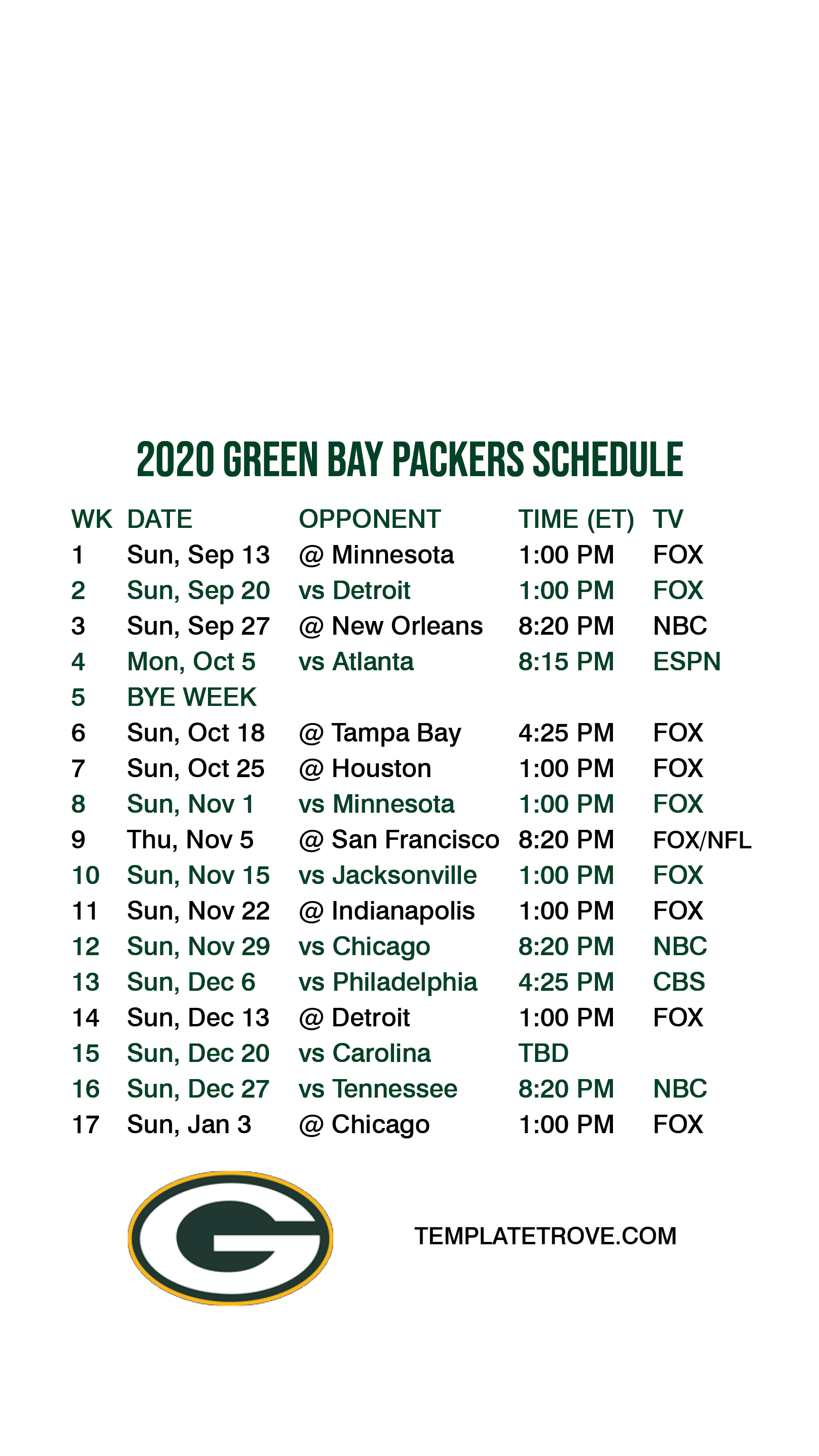 2020 2021 Green Bay Packers Lock Screen Schedule For Iphone 6 7 8 Plus