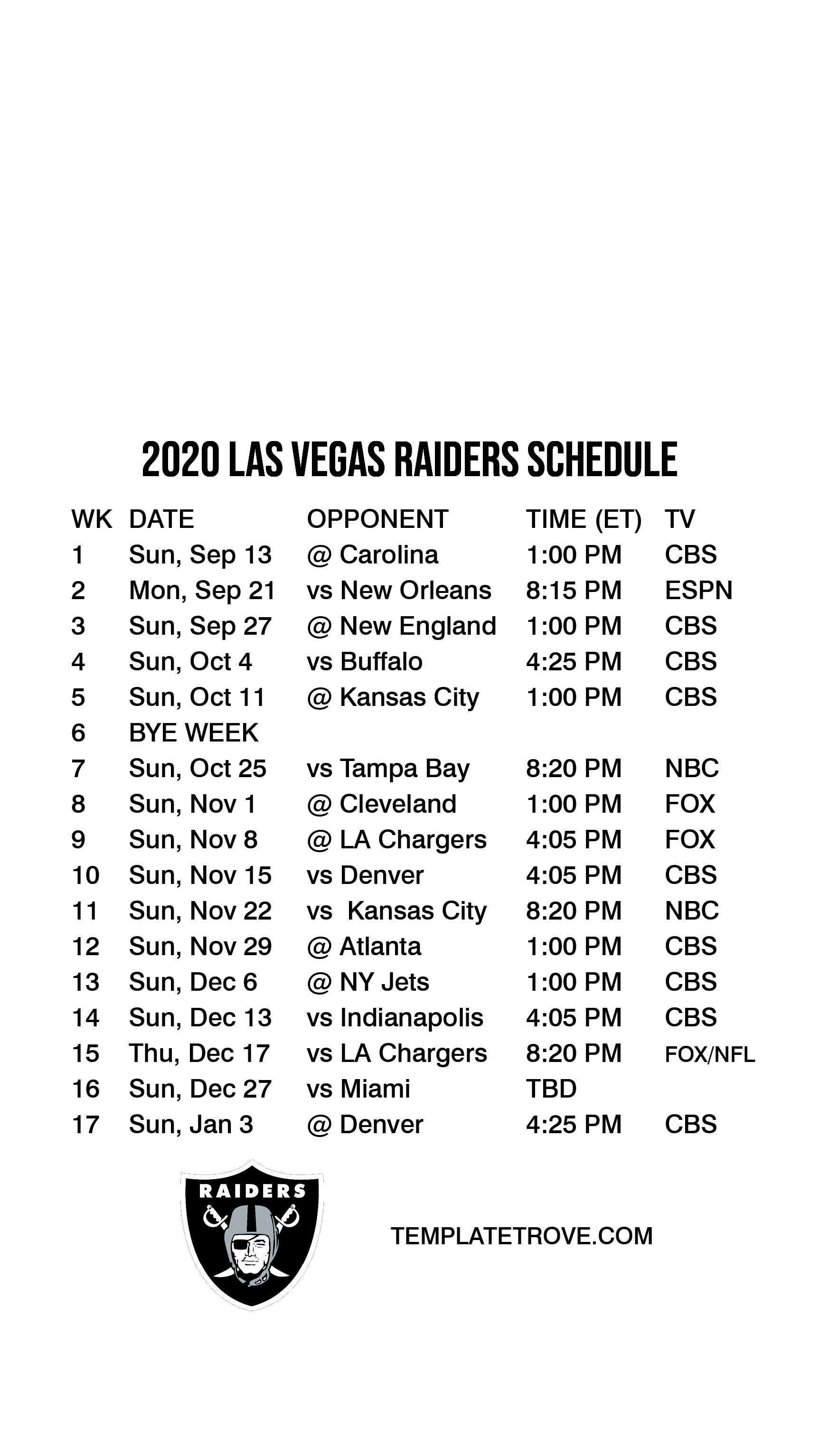 2020 2021 Las Vegas Raiders Lock Screen Schedule For Iphone 6 7 8 Plus