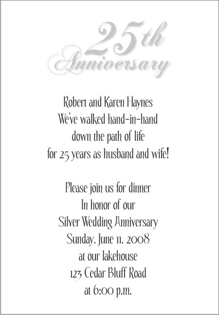 25th wedding anniversary invitations this invitation stopboris Images