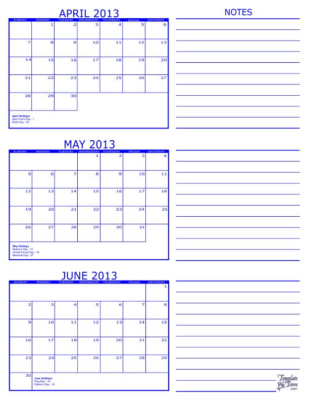 Year Calendar June To June : Month calendar