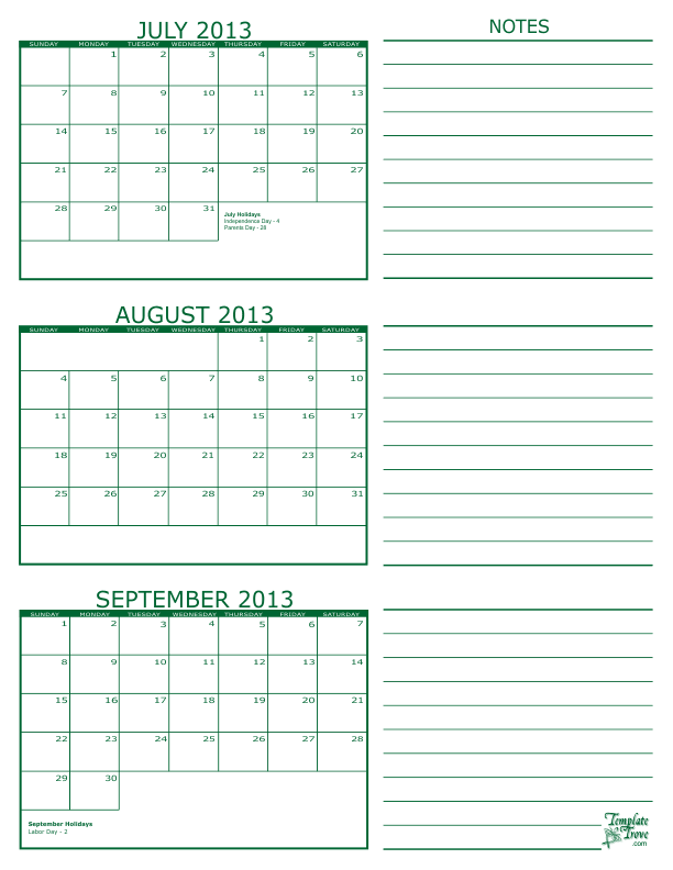 Pics Photos - Calendar Template September 2013 To August 2014 Android