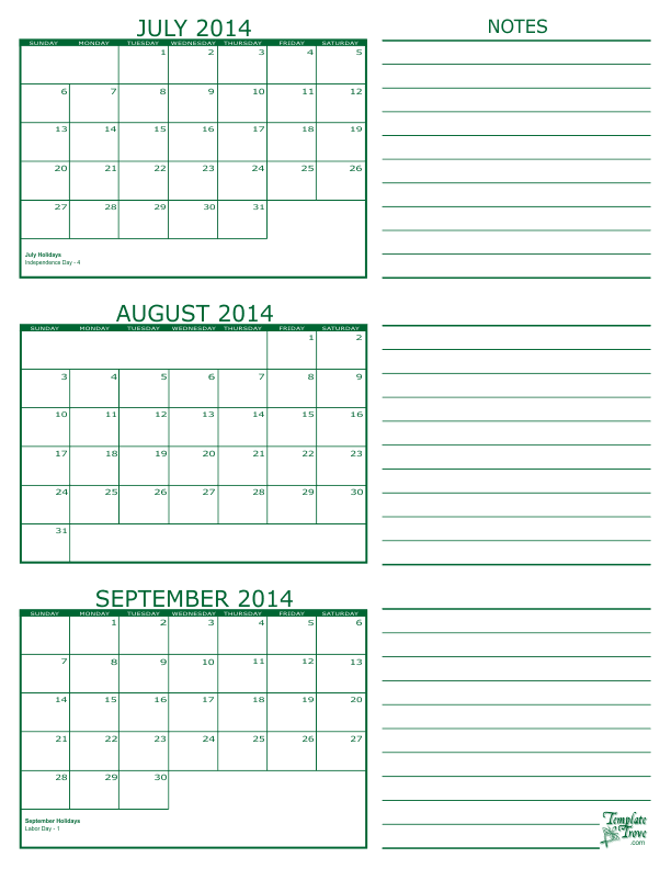 Calendar For August 2014 Roho4senses