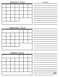 December 2017 January And February 2020 Calendar 3 Month 3 Month Calendar   2018