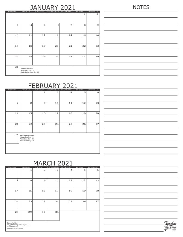 3 Month Printable Calendar 2021 3 Month Calendar   2021