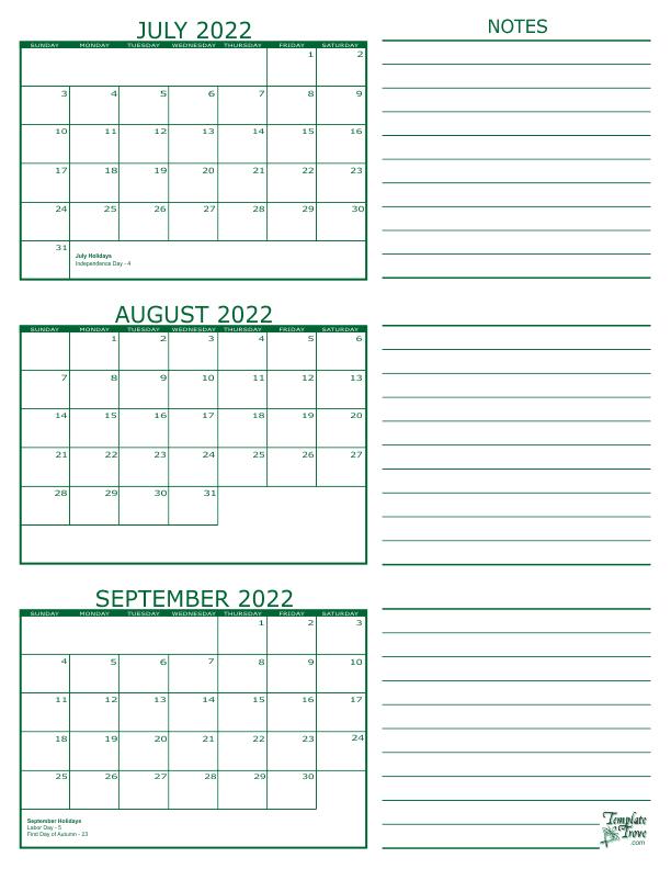 3 Month Calendar 2022.3 Month Calendar 2022