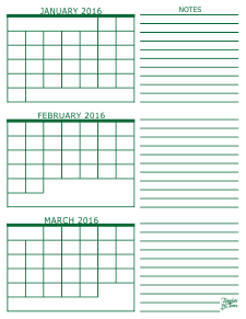 image regarding Printable 3 Month Calendar named No cost Calendars towards Print PDF Calendars