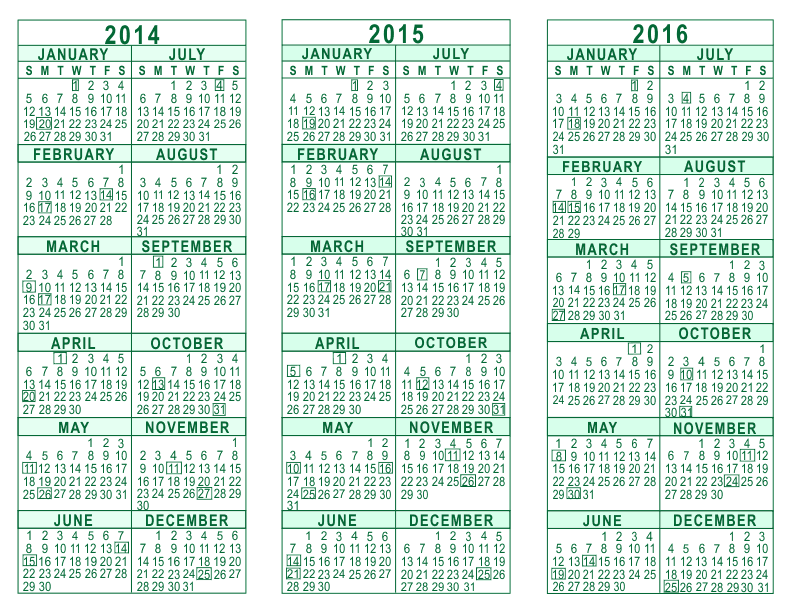 3 year calendar planner 2014 to 2016 search results for Yearly planning calendar template 2014