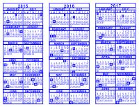blue 3 year calendar 2015 2016 2017