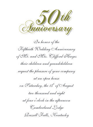 50th wedding anniversary invitations stopboris Choice Image