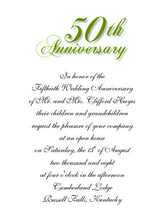 Th Wedding Anniversary Invitations
