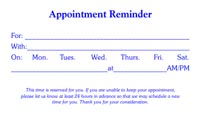 Appointment Card Template 1