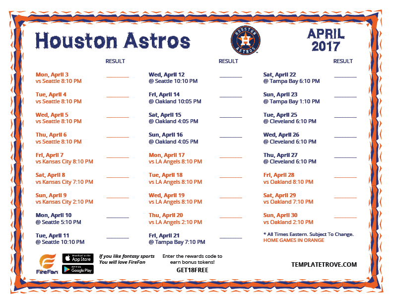 Clever image with regard to astros schedule printable