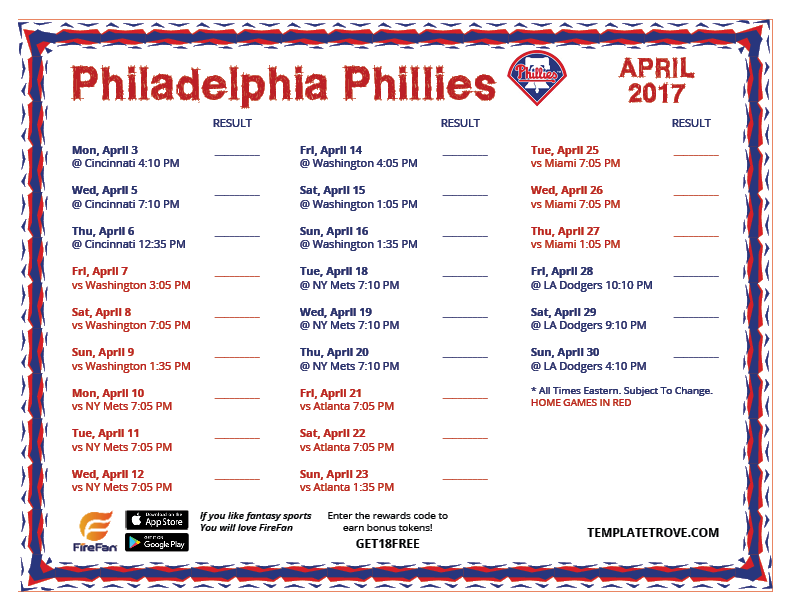 Current image throughout phillies schedule printable