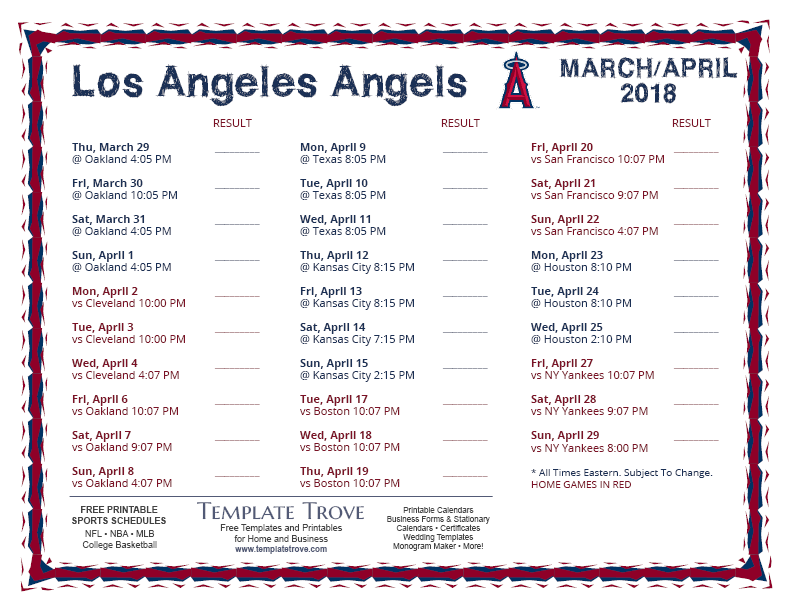 Sly image inside angels printable schedule