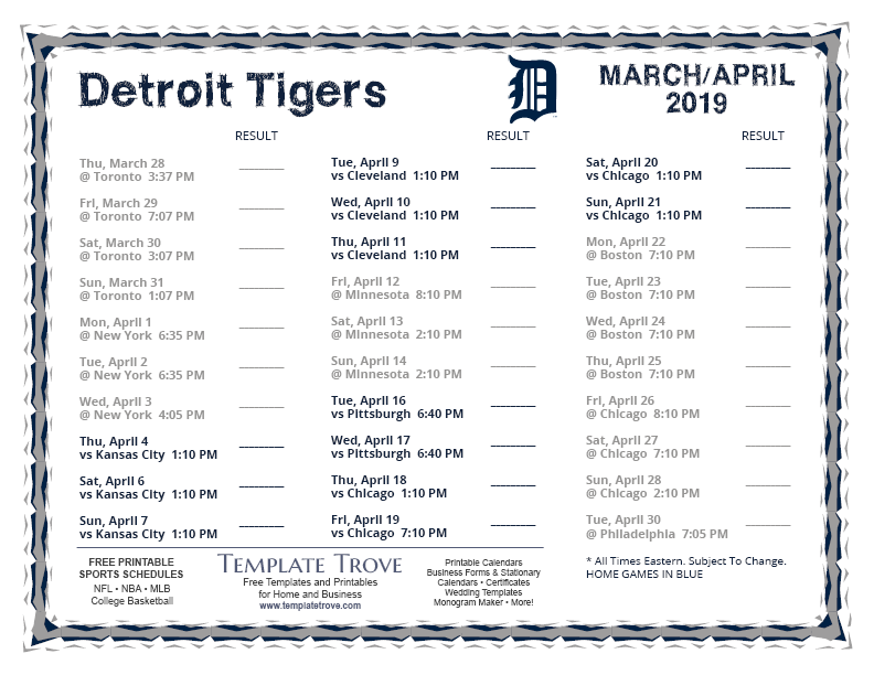 It is a graphic of Gratifying Printable Detroit Tigers Schedule
