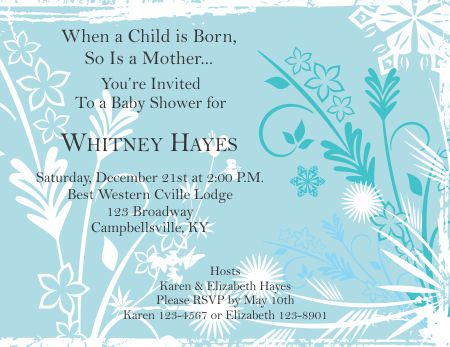 Template Trove  Baby Shower Templates Word