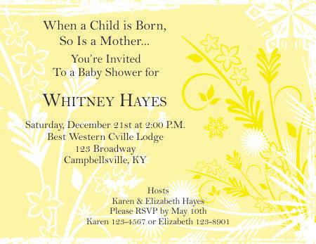Yellow Baby Shower Invitation  Editable Baby Shower Invitations