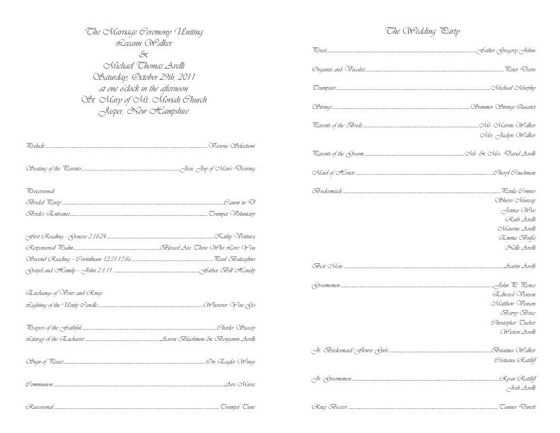 catholic wedding program template 4