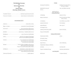 Catholic Wedding Program Template 7