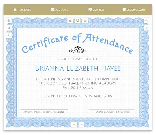 Free certificates templates borders frames and more certificate maker yadclub Images