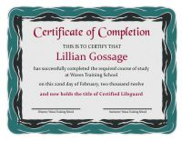 Certificate of Completion Template 1D