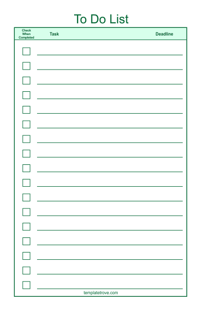 Green Checklist Template 2