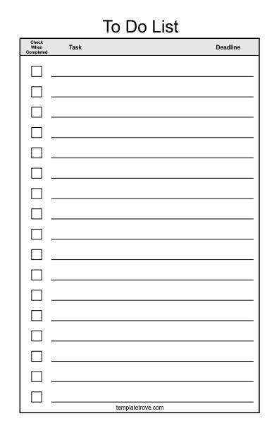 To Do Checklist Template 2