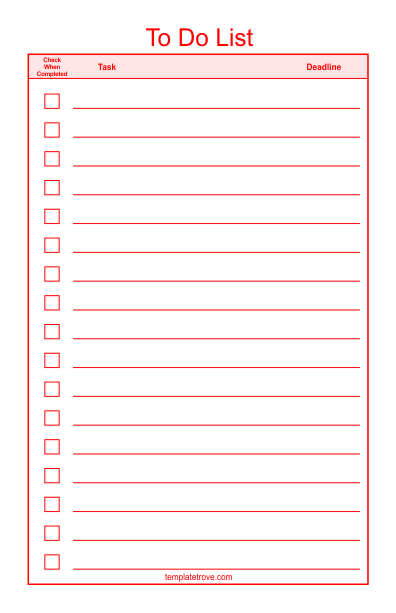 to do checklist template 2