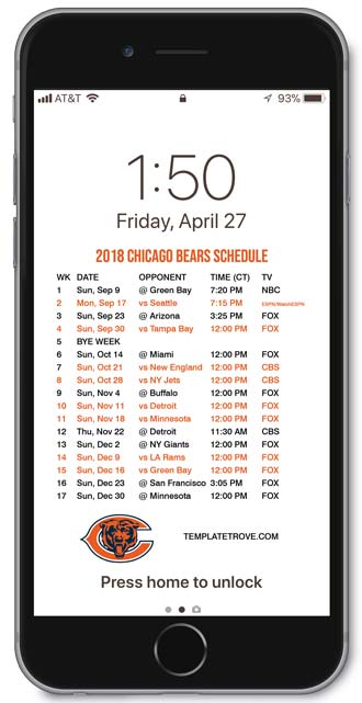 Ridiculous image in chicago bears schedule printable