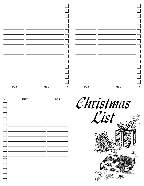 graphic regarding Printable Christmas Shopping List titled Printable Xmas Browsing Listing