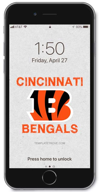 Cincinnati Bengals Lock Screen 3