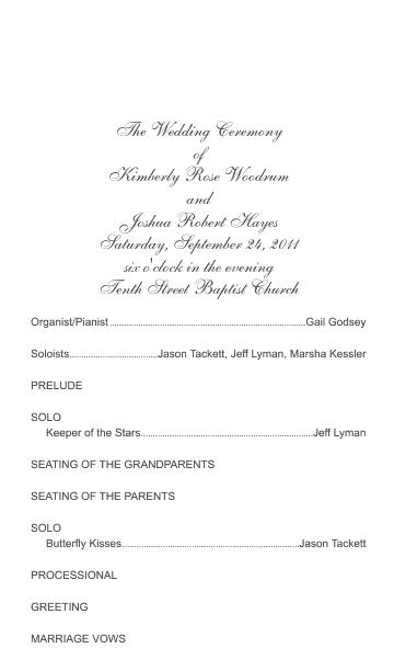 Color Layer Wedding Program Template 1