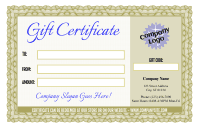Formal Gift Certificate 3