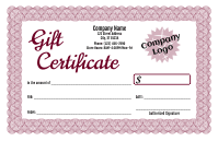Formal Gift Certificate 4