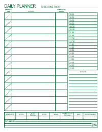 Daily Planner - Green