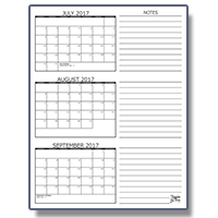 3 Month Calendars - Favorite Printables