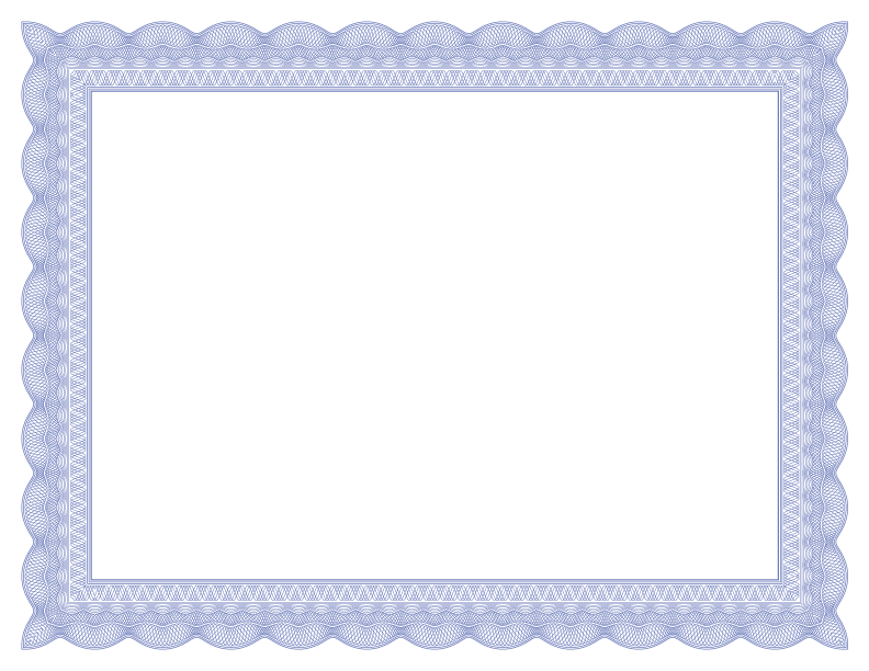 blue certificate border template - formal certificate borders