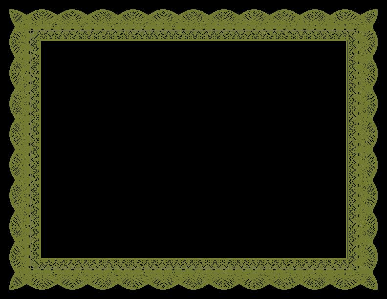 Blank Calendar Design : Formal certificate borders