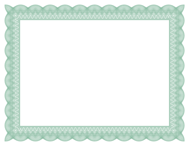 formal certificate borders