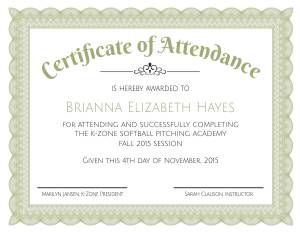 Formal Certificate of Attendance Template