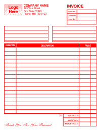 Free Invoice Template 1 - Red