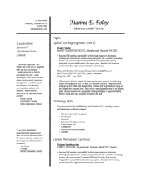 Resume Template 3 - Page 2